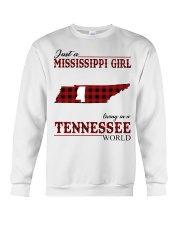 Just A Mississippi Girl In Tennessee World Crewneck Sweatshirt thumbnail