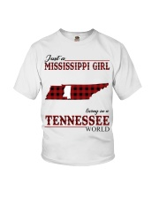 Just A Mississippi Girl In Tennessee World Youth T-Shirt thumbnail