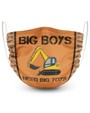 Big Boys Need Big Toys 2 Layer Face Mask - Single front