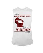Oklahoma Girl Living In Wisconsin Sleeveless Tee thumbnail