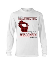 Oklahoma Girl Living In Wisconsin Long Sleeve Tee thumbnail