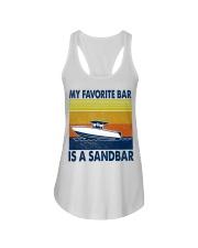 My Favorite Bar Is A Sandbar Ladies Flowy Tank thumbnail