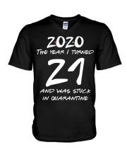 21st Birthday 21 years old V-Neck T-Shirt thumbnail