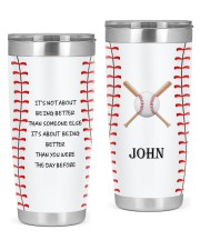 Baseball Personalized Christmas Gift 20oz Tumbler front