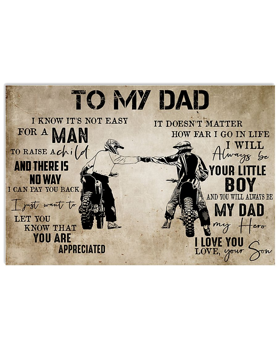 To My Dad From Son-Motocross 24x16 Poster
