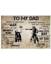 To My Dad From Son-Motocross 24x16 Poster front