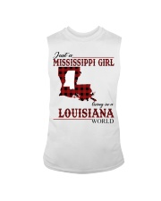 Just A Mississippi Girl In Louisiana World Sleeveless Tee tile