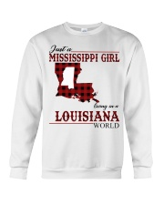 Just A Mississippi Girl In Louisiana World Crewneck Sweatshirt thumbnail