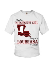 Just A Mississippi Girl In Louisiana World Youth T-Shirt thumbnail