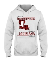 Just A Mississippi Girl In Louisiana World Hooded Sweatshirt thumbnail