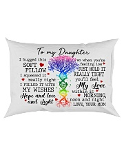 Daughter I Hugged This Soft Pillow DNA Tree Rectangular Pillowcase back