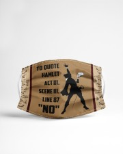 TO QUOTE  HAMLET Cloth face mask aos-face-mask-lifestyle-22