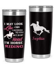 Horse Riding Personalized Christmas Gift 20oz Tumbler front
