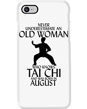 Never Underestimate Old Woman Tai Chi August  Phone Case thumbnail