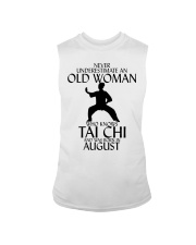 Never Underestimate Old Woman Tai Chi August  Sleeveless Tee thumbnail