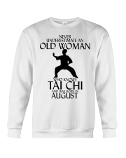 Never Underestimate Old Woman Tai Chi August  Crewneck Sweatshirt thumbnail