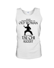 Never Underestimate Old Woman Tai Chi August  Unisex Tank thumbnail