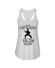 Never Underestimate Old Woman Tai Chi August  Ladies Flowy Tank thumbnail