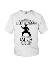 Never Underestimate Old Woman Tai Chi August  Youth T-Shirt thumbnail