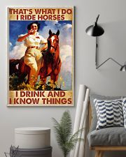 That's What I Do I Ride Horses I Drink 24x36 Poster lifestyle-poster-1