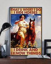 That's What I Do I Ride Horses I Drink 24x36 Poster lifestyle-poster-2