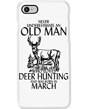 Never Underestimate Old Man Deer Hunting March Phone Case tile