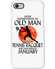 Old Man Tennis Racquet January Phone Case thumbnail