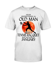 Old Man Tennis Racquet January Classic T-Shirt front