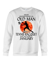 Old Man Tennis Racquet January Crewneck Sweatshirt thumbnail
