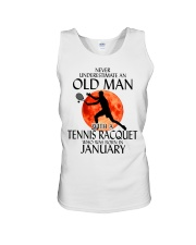 Old Man Tennis Racquet January Unisex Tank thumbnail