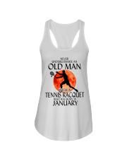 Old Man Tennis Racquet January Ladies Flowy Tank thumbnail
