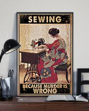 Sewing Because Murder Is Wrong 24x36 Poster lifestyle-poster-2