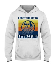 I Put the Lit in Literature Hooded Sweatshirt thumbnail