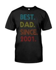 Best Dad Since 2001 Classic T-Shirt front