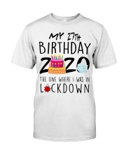 27th Birthday 27 Years Old Classic T-Shirt front