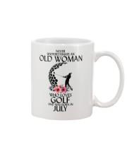 Never Underestimate Old Woman Golf July Mug thumbnail