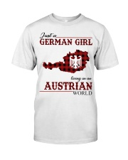Just A German Girl In Austrian World Classic T-Shirt front