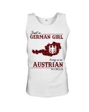 Just A German Girl In Austrian World Unisex Tank thumbnail