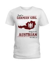 Just A German Girl In Austrian World Ladies T-Shirt thumbnail