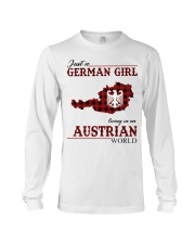 Just A German Girl In Austrian World Long Sleeve Tee thumbnail