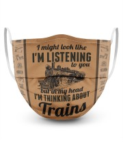 In my head I'm thinking about trains 3 Layer Face Mask - Single front