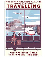 Girl Loves Travelling Born In May 24x36 Poster front