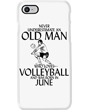 Never Underestimate Old Man Volleyball June Phone Case thumbnail