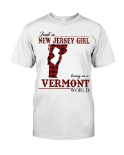 Just A New Jersey Girl In Vermont Classic T-Shirt front