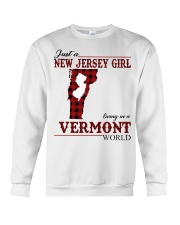 Just A New Jersey Girl In Vermont Crewneck Sweatshirt thumbnail