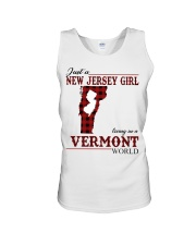 Just A New Jersey Girl In Vermont Unisex Tank thumbnail