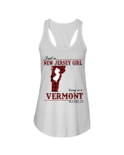 Just A New Jersey Girl In Vermont Ladies Flowy Tank thumbnail