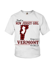 Just A New Jersey Girl In Vermont Youth T-Shirt thumbnail