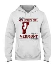 Just A New Jersey Girl In Vermont Hooded Sweatshirt thumbnail