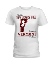 Just A New Jersey Girl In Vermont Ladies T-Shirt thumbnail